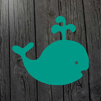 Whale decal Whale sticker Whale car decal Whale laptop decal Whale wall decal Nautical nursery Whale nursery Nautical decal Nautical sticker