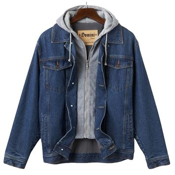 Domini Hooded Denim Jacket