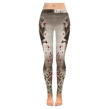 dark angel Low Rise Leggings (Invisible Stitch) (Model L05)