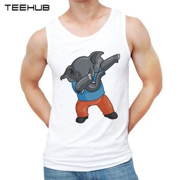 2017 Dabbing Unicorn Men tank tops Elephant Dancing printed Shirts Cute Panda Pug Cat Design male o-neck casual Vest