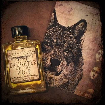 DAUGHTER of the WOLF-(Carnation, Sandalwood, Jasmine, Pine, Cedar, Helichrysum, Patchouli, Pinion Wood, Tobacco) Perfume Oil