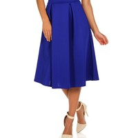 Sale-royal Pleated A-line Midi Skirt
