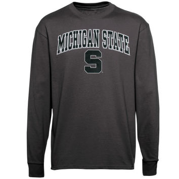 Michigan State Spartans Midsize Long Sleeve T-Shirt - Charcoal