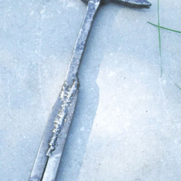 Hammer, Large, Handmade from NY Erie Railroad Spikes, Solid Super Strong Steal Construction