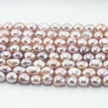 SNH 5strands /pack 9mm baroque AA purple High Quality 100% freshwater pearl beads for girl women party wedding DIY