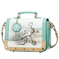Fashion Hand-painted Pattern Handbag Shoulder Bag