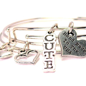 Cute Expandable Bangle Bracelet Set