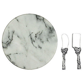 Arthur Court Grape 3-Piece Marble Cheese Board Set