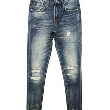 Embellish - Litre Distressed Denim (Washed Indigo)