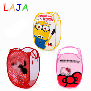 Minions Hello Kitty Clothing Storage Basket Folding Children Toys Storage Basket Kid Toy Shoes Storage Baskets Laundry Basket