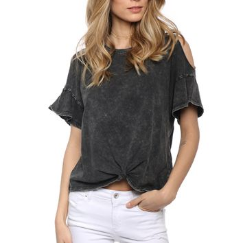 Z Supply The Knotted Front Tee
