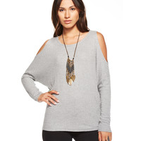 Cold Shoulder Grey Vintage Thermal