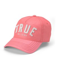 True Religion 3d Logo Reflective Coated Baseball Cap - Boungainvilla
