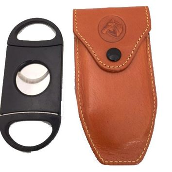 Cigar Cutter and Leather Case
