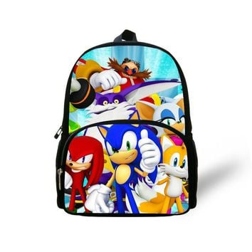 FORUDESIGNS 2017 children's cartoon backpacks sonic backpacks for boys, gifts small backpacks kids bags man free shipping