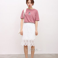 Summer Korean version of the hollow flower Duolei Si skirts
