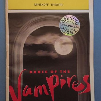 Dance Of The Vampires Opening Night Playbill