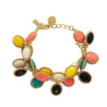 2013 J. Crew Style Inspired Vintage Colorful Resin  Wedding Party Bridal Statement Bracelet girls bracelet/ summer  FashionTrends