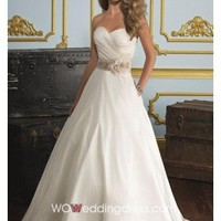 Best Sweetheart Ruched A-line Wedding Dress - Shop Online for Wedding Dresses at Low Prices