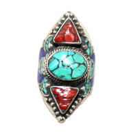 triangular coral ring