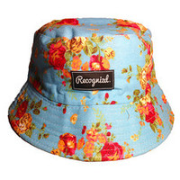 Recognizd — Blue Floral Bucket Hat