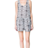 FLOWING PLAYSUIT - Jumpsuits - Woman | ZARA United States