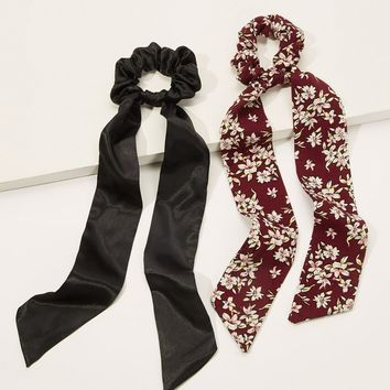 Calico & Plain Scrunchies Scarf 2pack
