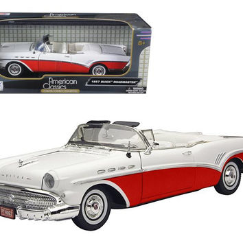 1957 Buick Roadmaster Convertible Red 1-18 Diecast Model Car by Motormax