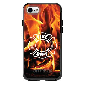 DistinctInk™ OtterBox Symmetry Series Case for Apple iPhone / Samsung Galaxy / Google Pixel - Flames Fire Department