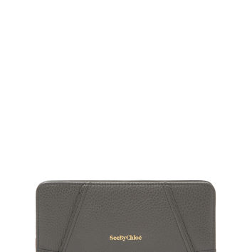 See by Chloe Women's Leather Continental Wallet - Grey