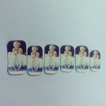 Marilyn Monroe Nail Decals by wearbyclaire on Etsy