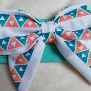 Large bow headband, baby headband, hair bow