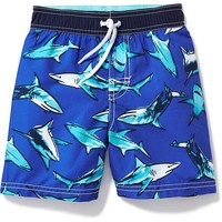 Shark-Print Swim Trunks for Toddler Boys | Old Navy