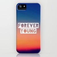 Forever Young iPhone & iPod Case by Josrick
