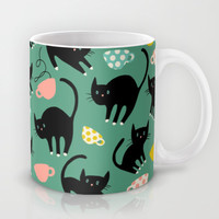 Cats on Coffee! Mug by Sara Berrenson | Society6