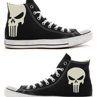 The Punisher Custom Converse / Painted Shoes