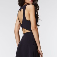 Kendall & Kylie Heart Cutout Dress - Womens Dress - Black