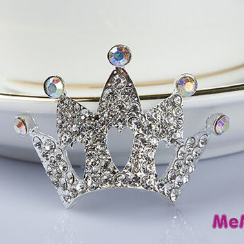 1 Piece Bling Gem Alloy Crown Accessories Stud Charm Kawaii Cabochon Deco Den on Craft Phone Case DIY Deco AA1340