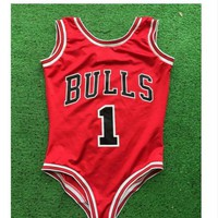 Sexy Body Bulls Swimsuit Bikini Swimsuit Bulls Basketball Suits Body Feminino Basquetebol Bulls 1 Body