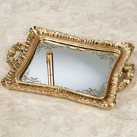 Melyna Gold Mirrored Vanity Tray