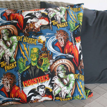 Horror Movie Cushion Cover - 18""