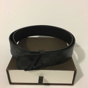 DCCKJY6X Louis Vuitton Belt Black Damier