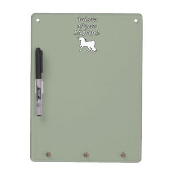 Unicorn Of Your Dreams (White) Dry Erase Board