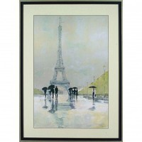 "New Century Picture April in Paris by Tillmon, Avery Wall Art - 44"" x 32"" - 720410 - Decor"