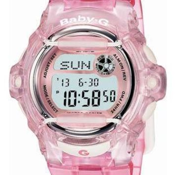 New Casio Baby-G Whale - Crystal Pink Band - World Time Chronograph - 200 Meters