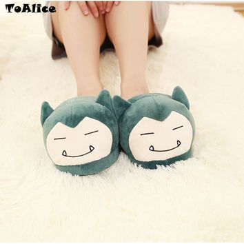 Funny Anime  Plush Slippers Women Men Home Indoor Warm Fluffy Shoes Hot Game Cartoon Pocket Monster Cosplay ShoesKawaii Pokemon go  AT_89_9