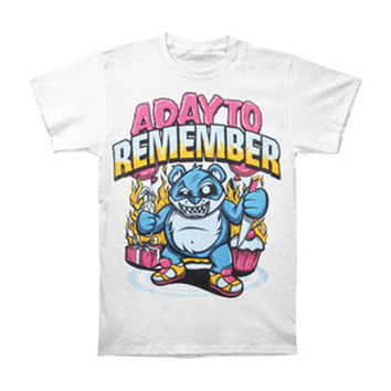 A Day To Remember Men's  Cupcake Bear T-shirt White
