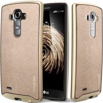 LG G4 Case, Caseology® [Envoy Series] Premium Leather Bumper Cover [Copper Gold] [Leather Bound] for G4 - Copper Gold