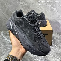 HCXX A1186 Adidas Yeezy Boost 700 V2 3M Fluorescent tethered lines Retro Running Shoes Black