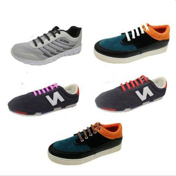 Modern 12pcs /Pair Unisex Lazy Athletic Running No Tie Shoelaces Women Men Elastic Silicone Shoe Lace All Sneakers Fit Strap